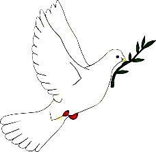 Radio Free Peace Dove  in Purple
