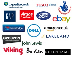 Logos of stores giving supporters a discount