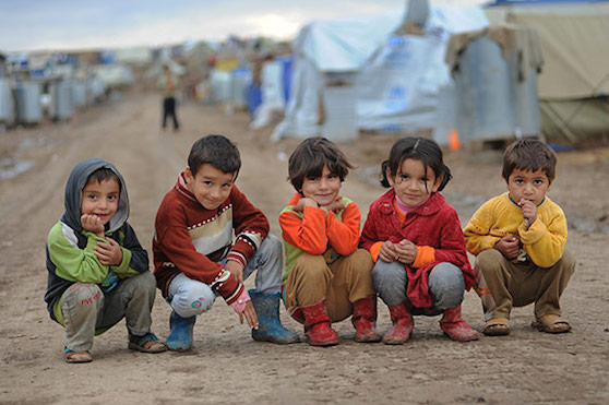 Refugee Children in camp  (children)