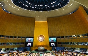 United Nations General Assembly in progress